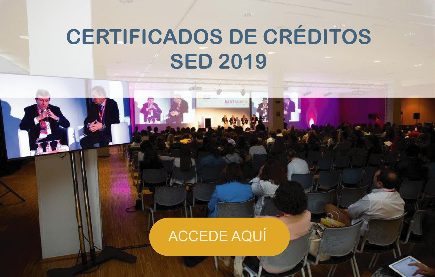 Certificados de créditos SED 2019